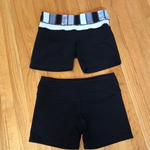 2 pairs of lululemon shorts. Size 6